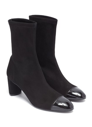 Detail View - Click To Enlarge - STUART WEITZMAN - 'Fernanda' panel toe ankle boots