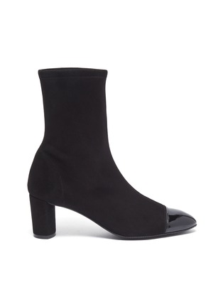 Main View - Click To Enlarge - STUART WEITZMAN - 'Fernanda' panel toe ankle boots