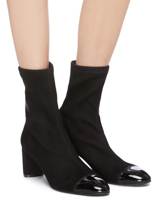 Figure View - Click To Enlarge - STUART WEITZMAN - 'Fernanda' panel toe ankle boots
