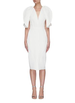 Main View - Click To Enlarge - MATICEVSKI - Vowed' plunge neckline dress