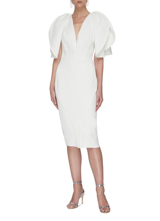 Figure View - Click To Enlarge - MATICEVSKI - Vowed' plunge neckline dress