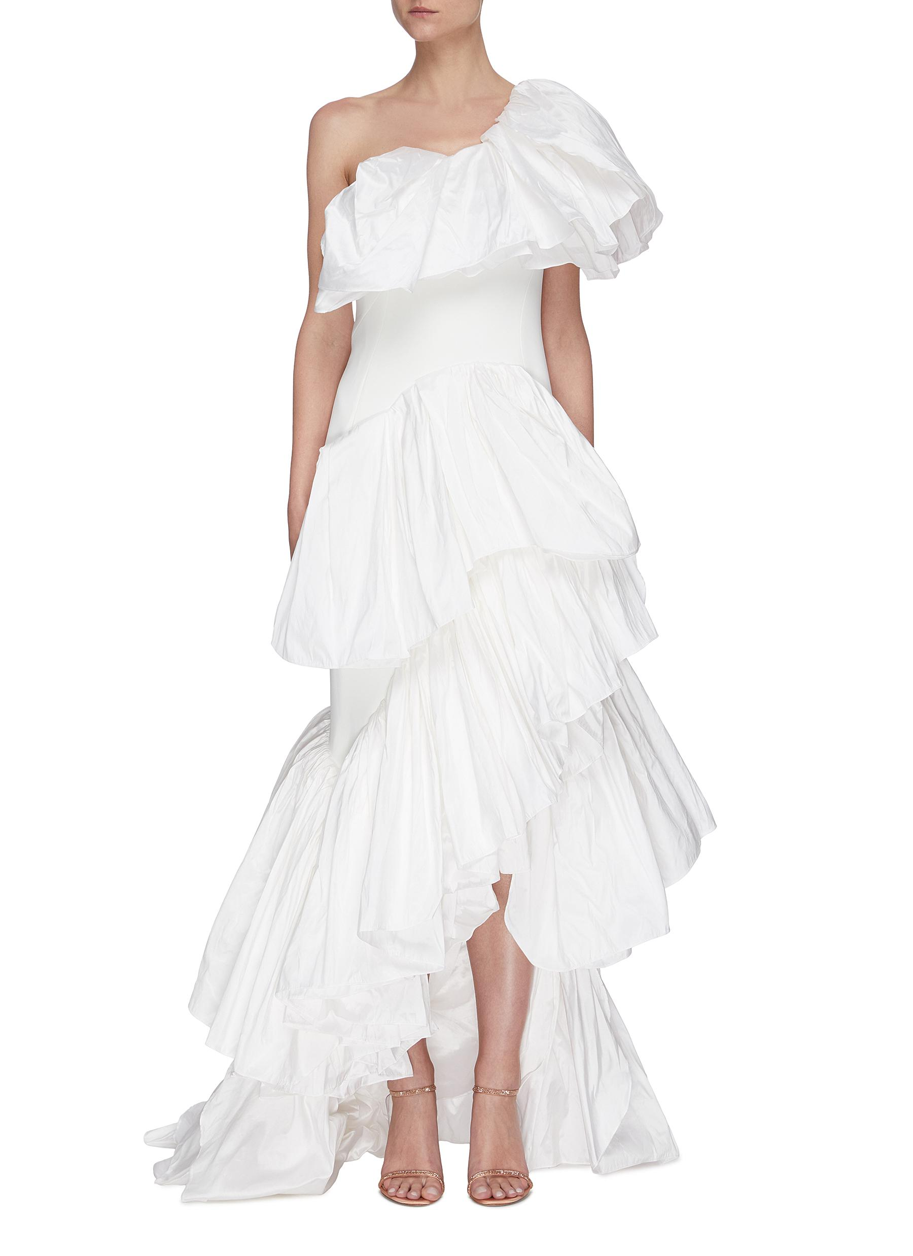 shop Maticevski Delighted' Ruffle Gown online