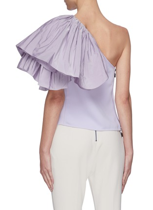 Back View - Click To Enlarge - MATICEVSKI - Attest' One Shoulder Ruffle Top