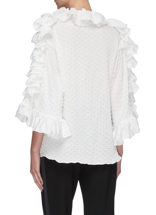 Back View - Click To Enlarge - MATICEVSKI - Jubilant' ruffle sleeve blouse