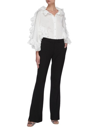 Figure View - Click To Enlarge - MATICEVSKI - Jubilant' ruffle sleeve blouse