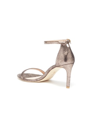 - STUART WEITZMAN - 'Nunakedstraight' glittered heeled sandals