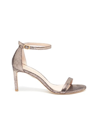 Main View - Click To Enlarge - STUART WEITZMAN - 'Nunakedstraight' glittered heeled sandals