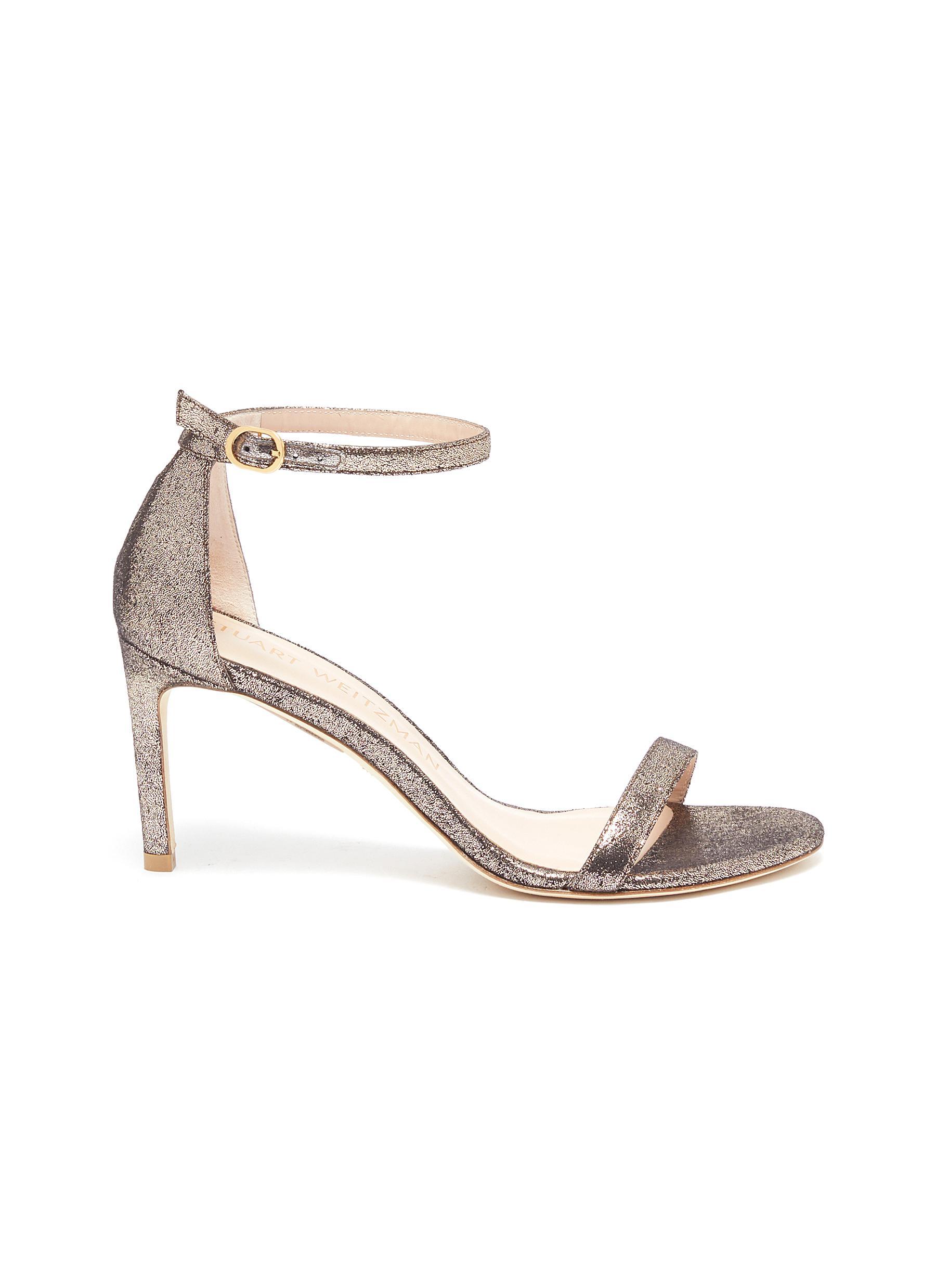Stuart Weitzman High Heels Nunakedstraight glittered heeled sandals