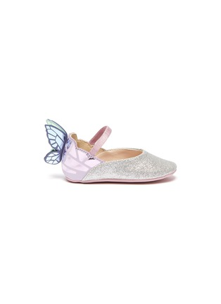 Main View - Click To Enlarge - SOPHIA WEBSTER - 'Chiara' wings leather kids ballerina flats