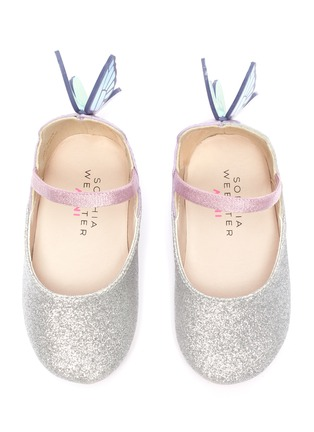 Figure View - Click To Enlarge - SOPHIA WEBSTER - 'Chiara' wings leather kids ballerina flats
