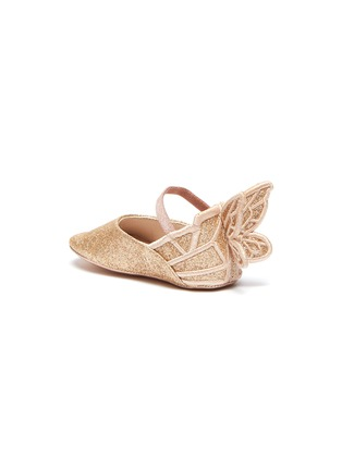 Detail View - Click To Enlarge - SOPHIA WEBSTER - 'Chiara' wings glitter kids ballerina flats