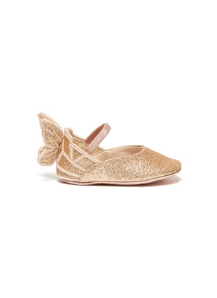 Main View - Click To Enlarge - SOPHIA WEBSTER - 'Chiara' wings glitter kids ballerina flats