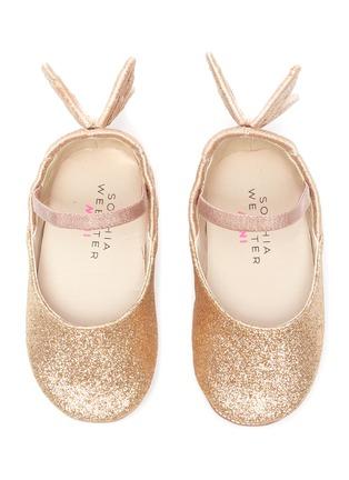 Figure View - Click To Enlarge - SOPHIA WEBSTER - 'Chiara' wings glitter kids ballerina flats