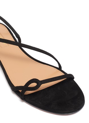 Detail View - Click To Enlarge - AQUAZZURA - 'Serpentine' suede leather flat sandals
