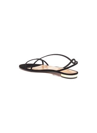 - AQUAZZURA - 'Serpentine' suede leather flat sandals