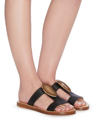 Figure View - Click To Enlarge - GABRIELA HEARST - 'Hades' agate embellished leather sandals