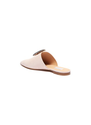 - GABRIELA HEARST - Agate embellished suede leather slides