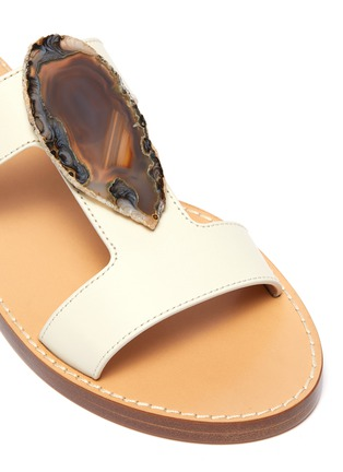 Detail View - Click To Enlarge - GABRIELA HEARST - 'Hades' agate embellished leather sandals