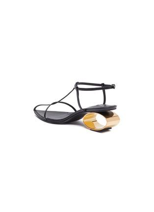 - JIL SANDER - Circular metal heel square toe sndals