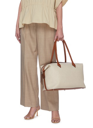 Figure View - Click To Enlarge - MÉTIER - 'Perriand All Day' linen bag