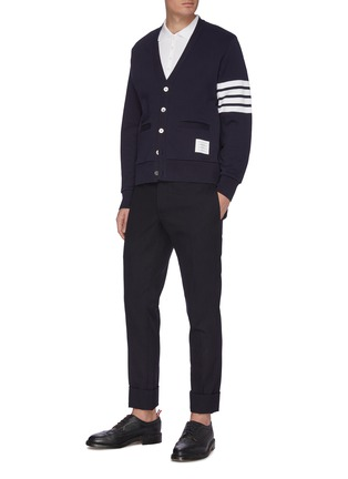 Figure View - Click To Enlarge - THOM BROWNE - Pocket polo shirt