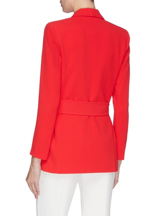 Back View - Click To Enlarge - ALICE + OLIVIA - 'Denny' shawl lapel belted boyfriend blazer