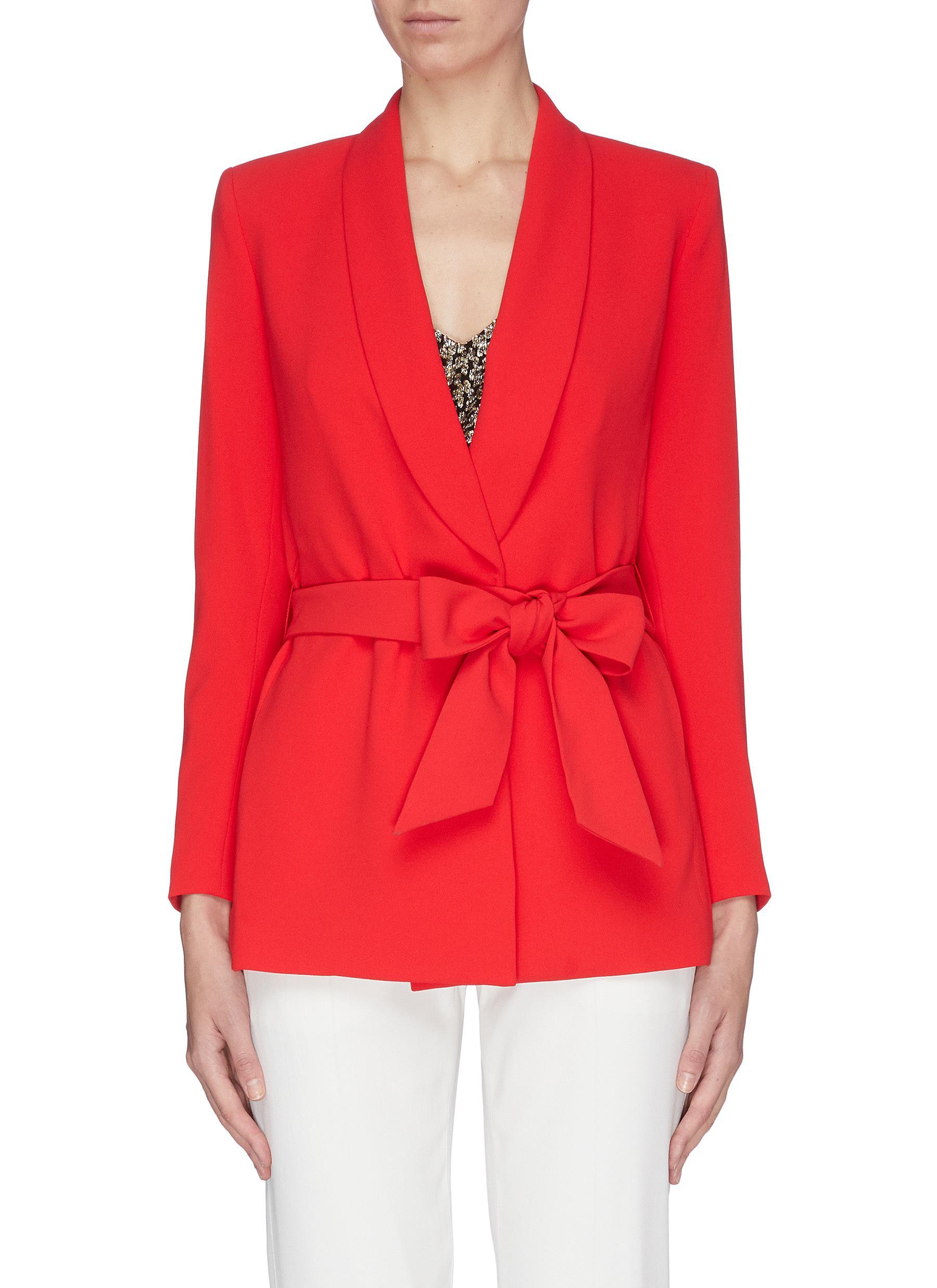 Buy Alice + Olivia Blazers 'Denny' shawl lapel belted boyfriend blazer