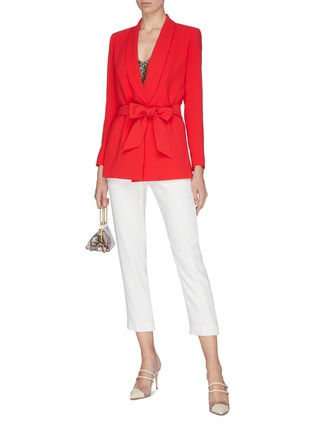 Figure View - Click To Enlarge - ALICE + OLIVIA - 'Denny' shawl lapel belted boyfriend blazer