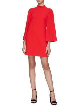 Figure View - Click To Enlarge - ALICE + OLIVIA - 'Bailey' Bell Sleeve Dress