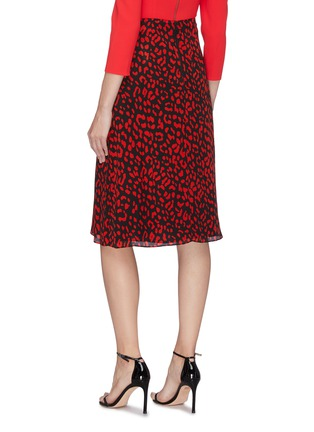 Back View - Click To Enlarge - ALICE + OLIVIA - 'Sula' leopard print silk skirt