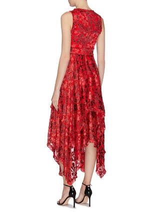 Back View - Click To Enlarge - ALICE + OLIVIA - 'Sammi floral double layer handkerchief dress