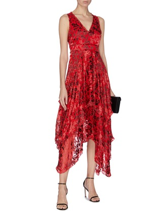 Figure View - Click To Enlarge - ALICE + OLIVIA - 'Sammi floral double layer handkerchief dress
