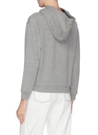 Back View - Click To Enlarge - ALICE + OLIVIA - 'Barron' sequin embellished slogan hoodie