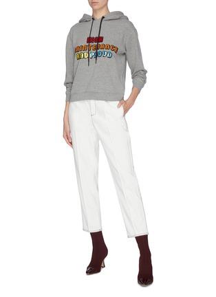 Figure View - Click To Enlarge - ALICE + OLIVIA - 'Barron' sequin embellished slogan hoodie