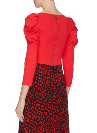 Back View - Click To Enlarge - ALICE + OLIVIA - Square neck puff sleeve top