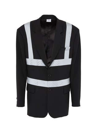 Main View - Click To Enlarge - VETEMENTS - Reflector stripe tailored jacket