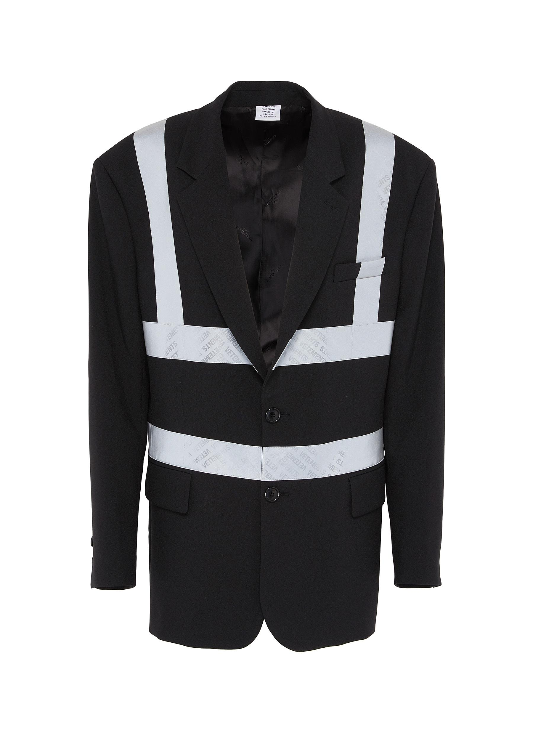Buy Vetements Blazers Reflector stripe tailored jacket