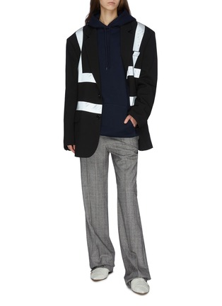 Figure View - Click To Enlarge - VETEMENTS - Reflector stripe tailored jacket
