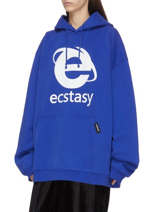 Front View - Click To Enlarge - VETEMENTS - 'Ecstasy' graphic print hoodie