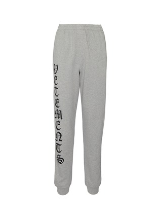 Main View - Click To Enlarge - VETEMENTS - 'Gothic' logo outseam sweatpants
