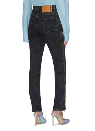 Back View - Click To Enlarge - VETEMENTS - 'Stripper' zupper outseam jeans