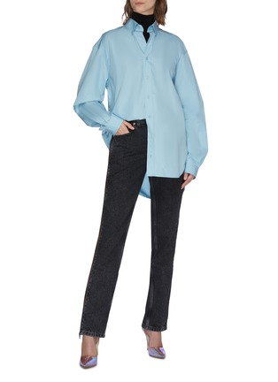 Figure View - Click To Enlarge - VETEMENTS - 'Stripper' zupper outseam jeans
