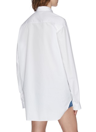 Back View - Click To Enlarge - VETEMENTS - 'Gothic' logo print oversized button-up shirt