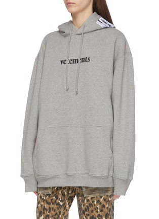 Front View - Click To Enlarge - VETEMENTS - Logo print hoodie