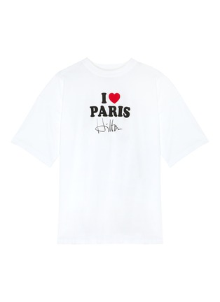 Main View - Click To Enlarge - VETEMENTS - 'I Love Paris Hilton' slogan print T-shirt