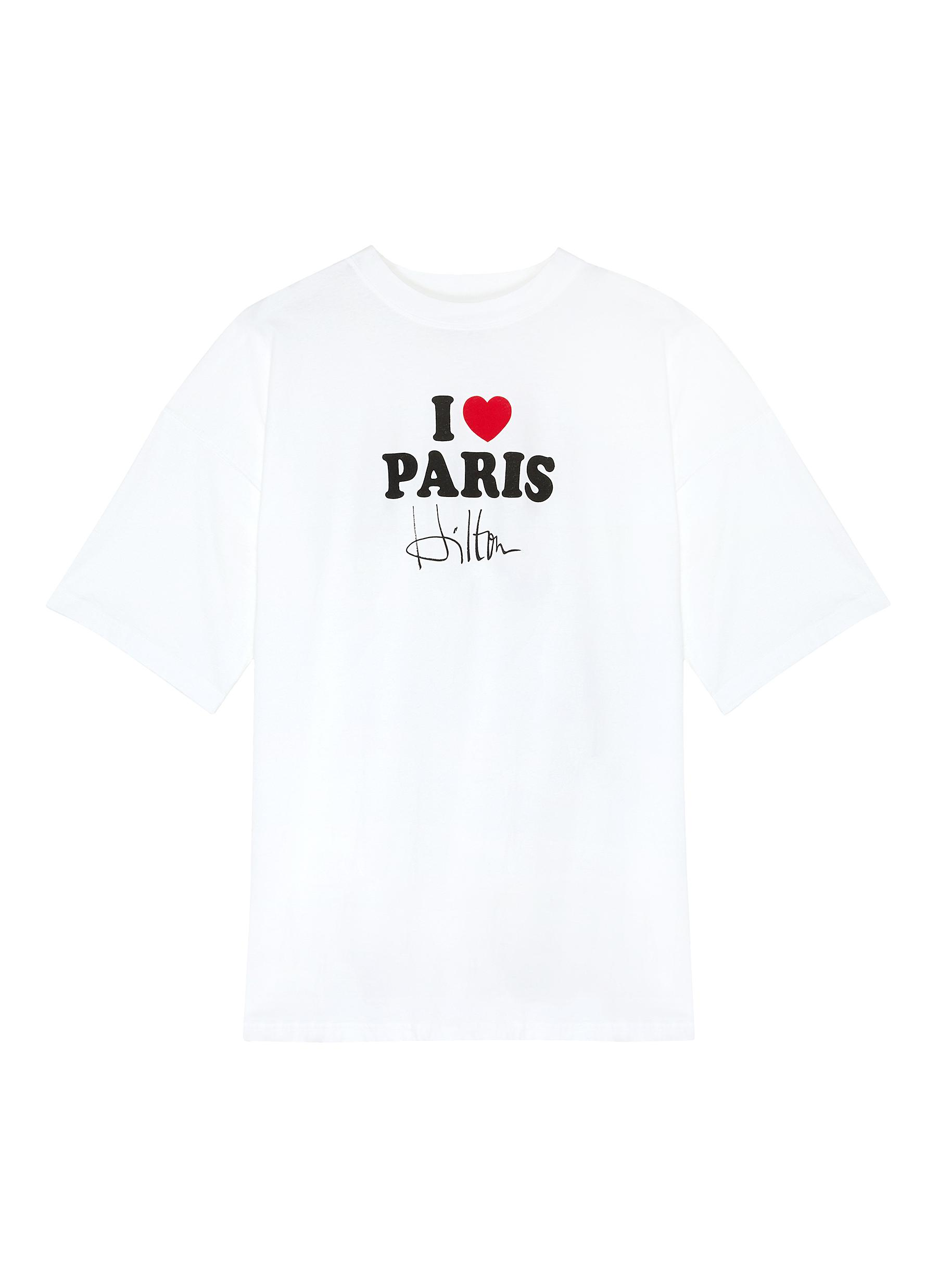 Buy Vetements Tops 'I Love Paris Hilton' slogan print T-shirt