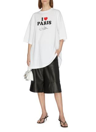 Figure View - Click To Enlarge - VETEMENTS - 'I Love Paris Hilton' slogan print T-shirt