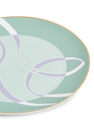 Detail View - Click To Enlarge - ANDRÉ FU LIVING - Mid Century Rhythm Full Porcelain Charger Plate