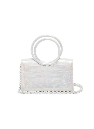 Main View - Click To Enlarge - NANCY GONZALEZ - Ring handle crocodile leather mini shoulder bag