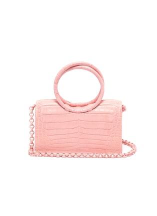 Main View - Click To Enlarge - NANCY GONZALEZ - Ring handle crocodile leather mini shoulder bag